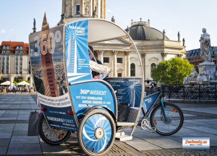 Berliner Rikscha Werbung Rikscha Promotion Berlin