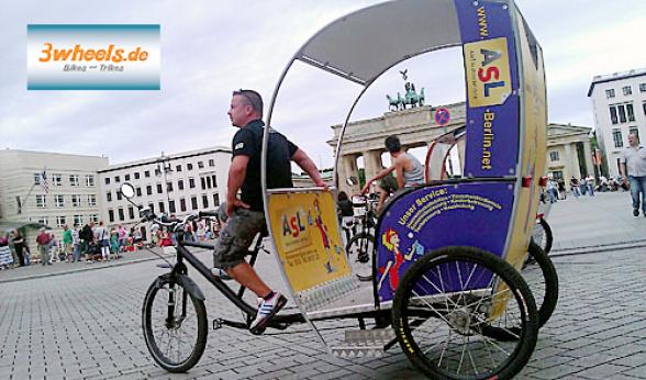 Rikscha Berlin - e-Rikscha Berlin - Pedicab - Dreiradrikscha - Fahrradrikscha