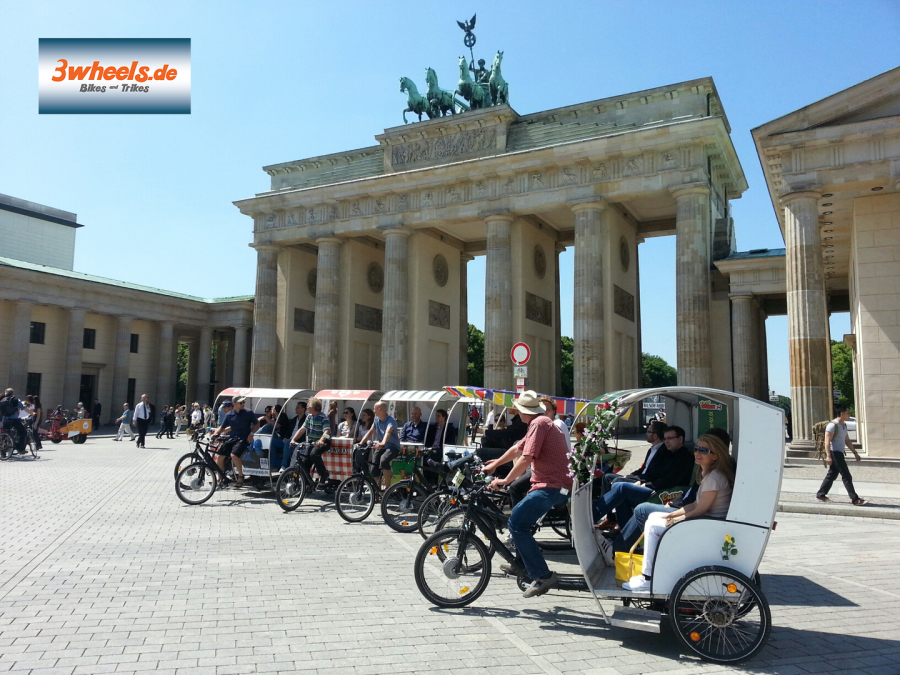 Brandenburger Tor- Rikscha Event Berlin - 3wheels.de