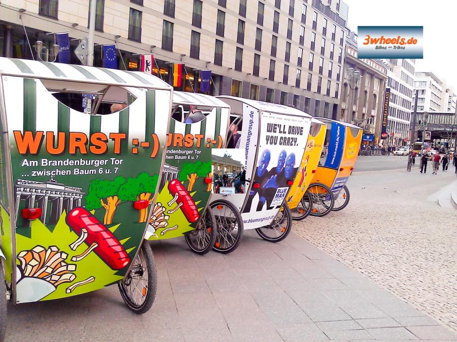 Rikscha Berlin Touren - Stadtführung Rikscha Berlin - 3wheels.de