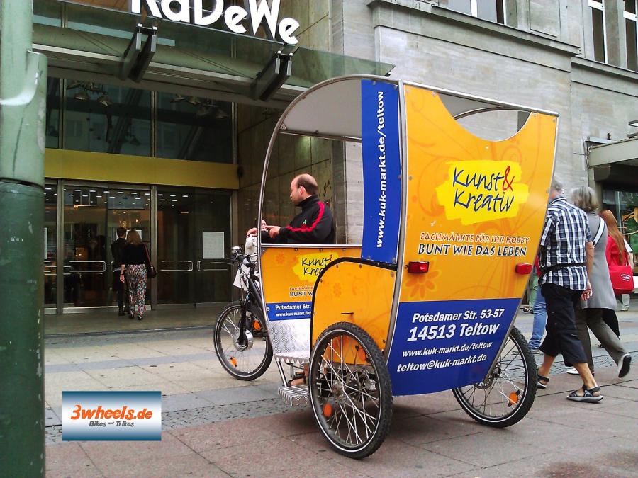 geführte Stadt Tour Berlin Rikscha - Berlin Pedicab - 3wheels.de