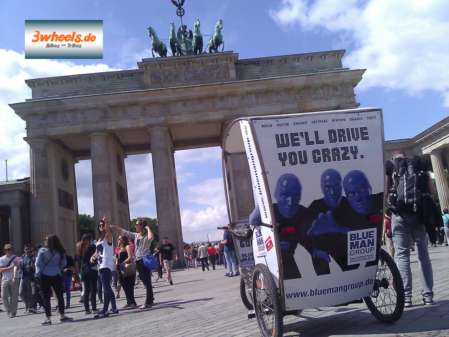 Rikscha Berlin Touren - Brandenburger Tor - 3wheels.de