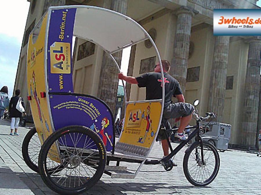 geführte Stadt Tour Berlin Rikscha - 3wheels.de