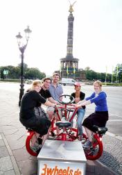 Siegessäule Berlin mit Gruppenrad - Gruppenfahrrad - 3wheels.de