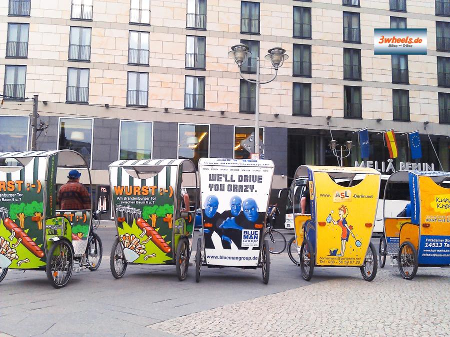 Rikscha Veranstaltung - Rikscha Tours Berlin - 3wheels.de
