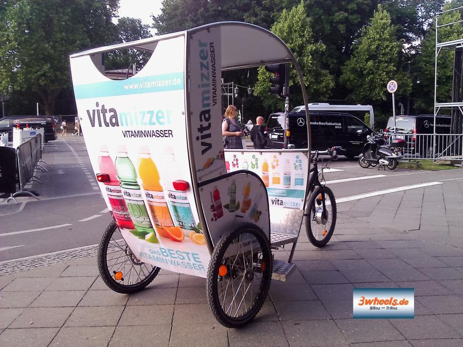 Berliner Rikscha Event - Rikscha Werbung Berlin - 3wheels.de