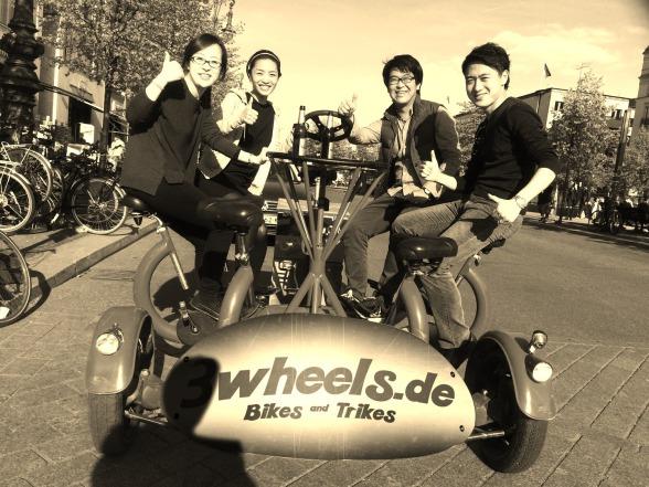 Betriebsfeier in Berlin mit 7 Personen Konferenz Bike auf Tour Unter den Linden (ConferenceBike Berlin)