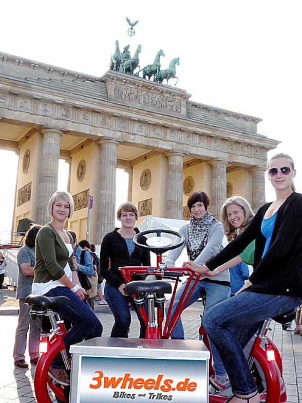 Berlin Mehrpersonenrad - Berlin Mehrpersonenfahrrad Stadtrundfahrt Touren